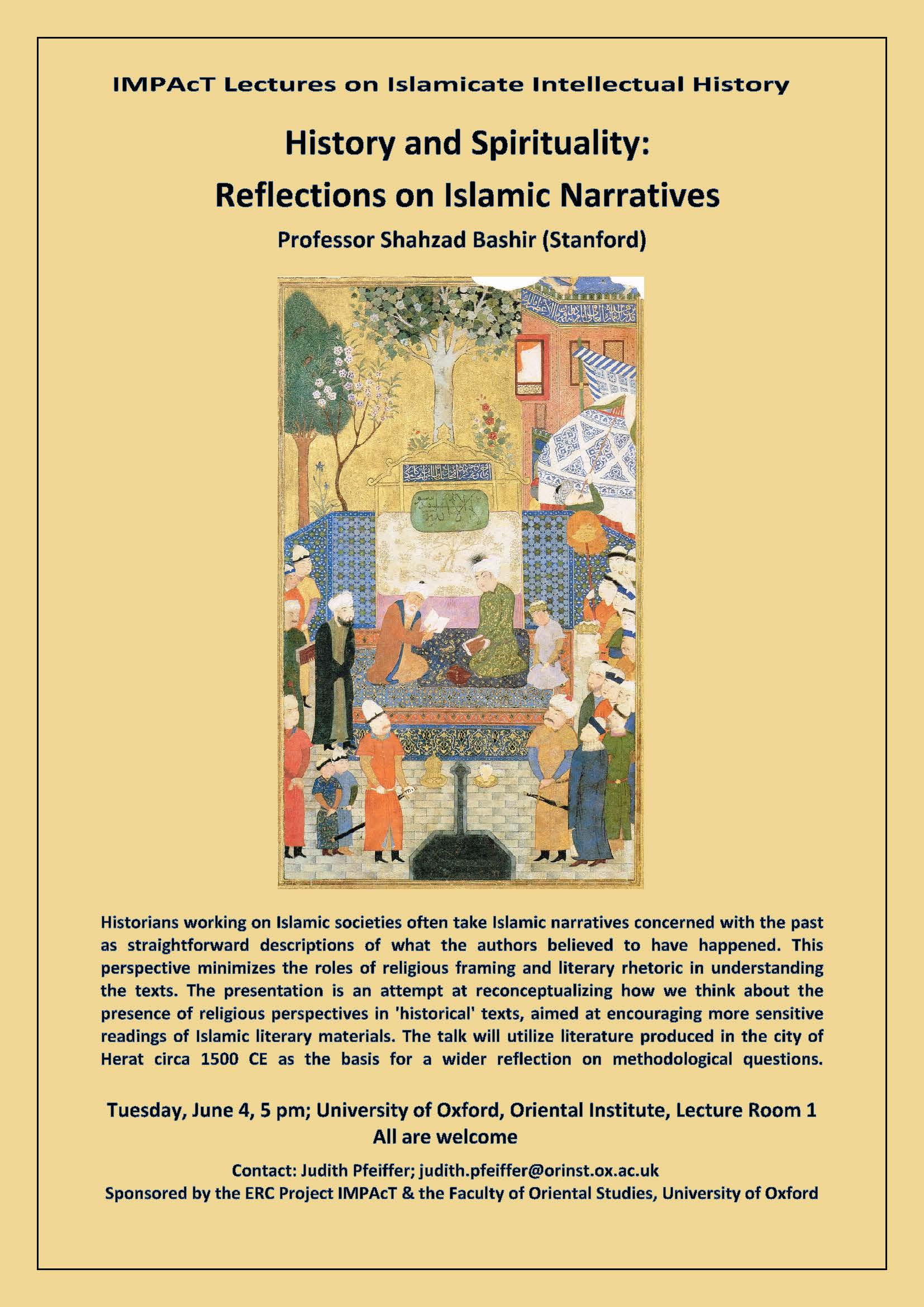 IMPAcT Lectures on Islamicate Intellectual History