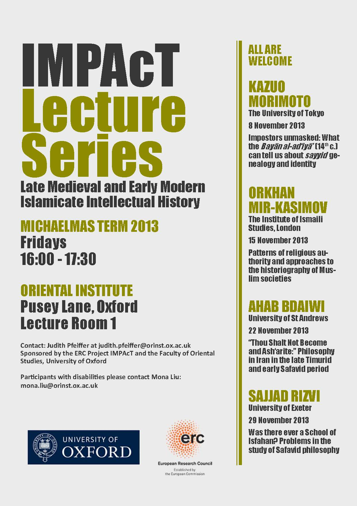 IMPAcT Lecture Series